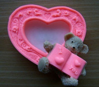 Wholesale D lovey bear soft siliconeSoap Molds Cake mold Mould For Soap Candle Candy Jelly Cake