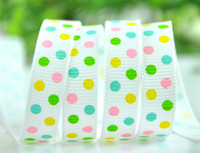Wholesale hot quot quot spring coming yards children Hair Bow DIY grosgrain ribbons stitched ribbons