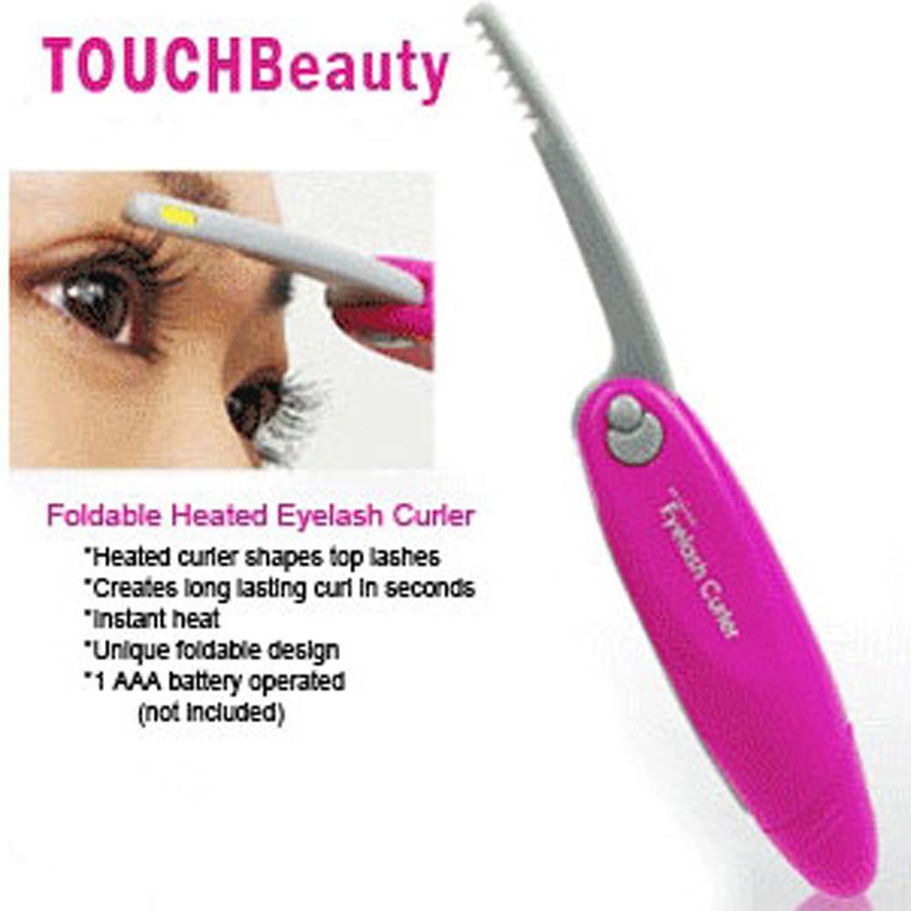 New Mini Electric Eyelash Curler Instant Heated Foldable Curls ...
