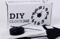 decorative clock wall clock - Fashion DIY wall alarm clock mute electronic wall clock decorative wall clocks quartz clock