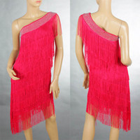 Wholesale Woman Evening amp Cocktail Party One Shoulder Fringe Latin Dance Ballroom Dress