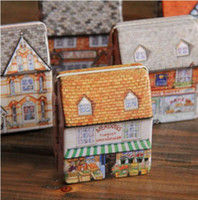 Wholesale Lovely Mini Full Painted Small House Tin box Jewelry box