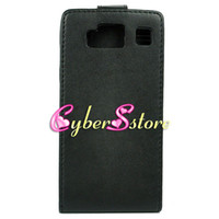 Wholesale 200pcs BLACK PU Synthetic Flip Leather Case Hard inside Cover For Motorola Droid Razr HD XT926