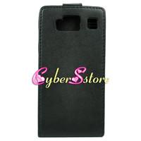 Leather droid razr case - 200pcs BLACK PU Synthetic Flip Leather Case Hard inside Cover For Motorola Droid Razr HD XT926