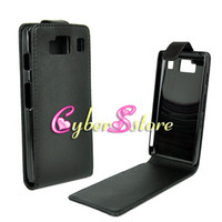 Wholesale 50pcs BLACK Verticle PU Synthetic Flip Leather Case Cover For Motorola Droid Razr HD XT926