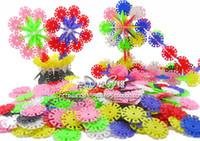 Wholesale 100pcs Snow Shape Plastic Building Blocks Baby Toy