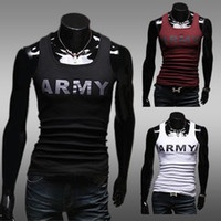 Wholesale Fashion brand mens vest tshirt cotton mens tank tops best quality mens sleveeless t shirt