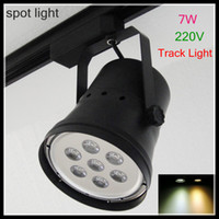 Wholesale Track light LED W Spot light V hot selling for clthing stores with warm cold white light