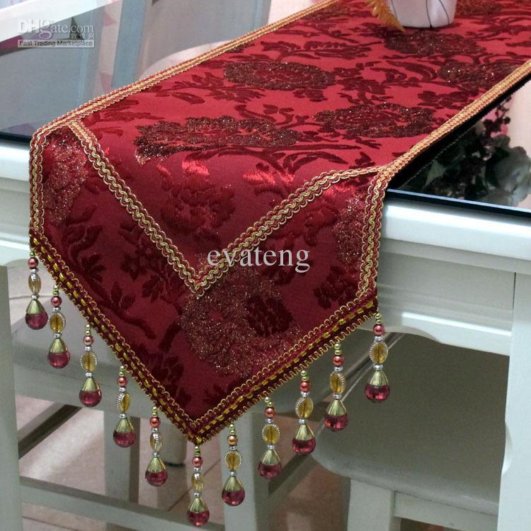 Top Grade Luxury Imported Velvet Table Runner W Non Slip