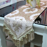 Wholesale top grade luxury imported velvet table runner with non slip suede on backing and with giftbox packed