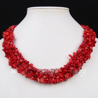Wholesale 12 Natural Red Coral Beads Toggle Clasp Elegant Ruby Necklace Jewelry Christmas Gif New Chip