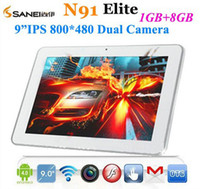 Wholesale Sanei N91 Elite inch Android Allwinner A13 GHz GB Dual Camera Tablet PC