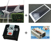 Wholesale 70w hybrid system w wind turbine w solar panel w hybrid controller w inverter high quality