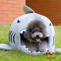 Wholesale KOJIMA creative shark round pet bed dog bed pet house dog house dog bed cat nest M Freeshipping