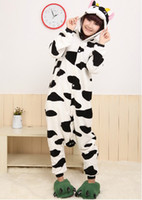Wholesale Hot Sale New Fashion S M L XL Adult Cow Sleepwear Cosplay Costumes Animal Kigurumi Pyjamas