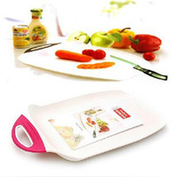 Wholesale Min order is mix order Thickening plastic cutting board fruit plate chopping block