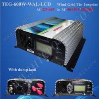 190-260v ac inverter controller - W Wind Turbine Grid Tie Inverter AC input built in dump load controller factory