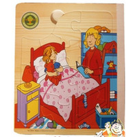 Wholesale Funny Puzzle Wooden Book Puzzle Toy Colorful D Story Books Learning Educational Toy doll