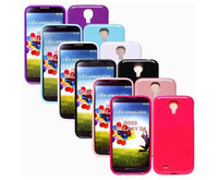 Plastic For Samsung  Lowest price Jelly candy color TPU Skin cell phone Case for Samsung Galaxy S4 SIV i9500 50pc