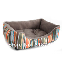 Wholesale High Quality Rainbow Stylish Soft Warm Dog Bed House Pet Puppy Cat Nest Pet Mat Pad cm x cm M Size
