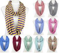 chevron scarves - Stripe cycle chevron infinity zebra candy color polyester scarf NL