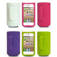 Wholesale Silicone Mug Cup Case for iphone s g Self standing Protective Cup Cover Sets