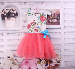 Wholesale 2013 Summer girls dresses baby tutu dress girls clothes gauze cotton lace dress color Y APR24