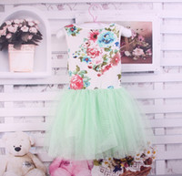 TuTu Summer Pleated up $199 Mix order EMS FEDEX to AU US UK FR NL CA Summer girls dresses baby yarn tutu dress girls clothes cotton lace dress,Y-13APR24