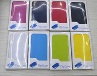Wholesale Flip Leather Case Cover for Samsung Galaxy S4 i9500 with Retail Package colors New Arrival