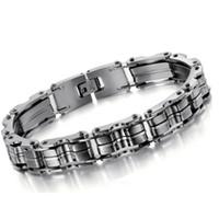 Wholesale stainless steel bike chain bracelet fashion mens personilized males bracelet