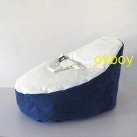 Wholesale Original PLAIN navy blue white seat baby beanbag chair kids bean bag sofa beds