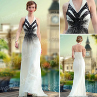 Wholesale Dazzlingly Halter Sequin and Beaded Chiffon Full Length A line Beautiful Evening Dresses
