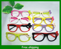 Wholesale BABY Fashion Sunglasses Frames candy spectacle frames bowknot glasses frames kid gifts