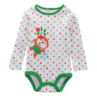 Halloween Girl Long Sleeve BEARSS girls monkey dot rompers jumpers tops baby babywear t-shirts bodysuits coverall tees M1508