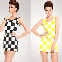 mini plaid skirt - Base Shirt Women Plaid Fashion dress Vest Sleeveless skirt Mini dresses for Women Party Casual dress