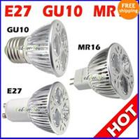Wholesale Promotion High power year Warranty CREE W x3W GU10 MR16 E27 Led Light Lamp Spotlight led bulb
