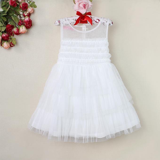 2015 New Arrival Fashion Girl Summer Dress White Princess Dresses ...