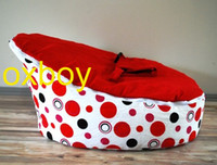 Wholesale red dots red seat baby beanbag chair original doomoo harness bean bag sofa beds