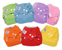Wholesale Adjustable Babyland Washable Baby Cloth Diaper Nappy Urine Pants COLORS