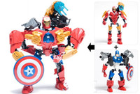 Wholesale Educational DIY building blocks League of Avengers Super hero plastic toy for children sets H0245