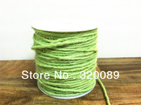 Wholesale DIY Yards Light Green Jute Twine Ply Decorative Handmade Accessory Hemp Rope