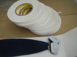 1cmx50m big roll strong 3M white tape adhesive tape for tape hair extensions holds 20-40days