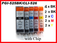 Wholesale 12 ink cartridge for Canon PGI BK CLI W Chip IP4800 IP4950 IX6550 MG8150 MG8220 MG8250 MX885