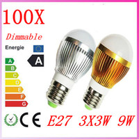 Wholesale 100X High power CREE W Led bulb Bulbs Dimmable x3W E27 V LED Lights downlight Ball Lamp