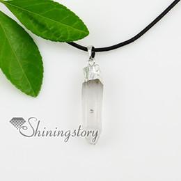 quartz rock crystal semi precious stone necklaces pendants jewelry