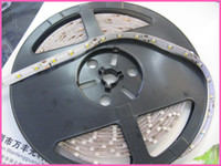 Wholesale 60pcs roll m roll Single color LED Flexible LEDS Strip LED flexible lights ribbon