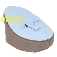 Wholesale baby beanbag Doomoo Seat Home Light Blue Fabric Base baby beds baby cot