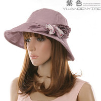 Wholesale women s fashion sunhats caps wide brim hats beach hats uv protection summer hats foldable caps