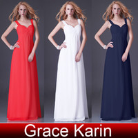 GK Cheap In Stock Chiffon Bridesmaid Dresses Sweetheart Spag...