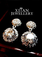 Wholesale hot sell Silver Plated Large Swarovski Dangle Crystals Earring E630